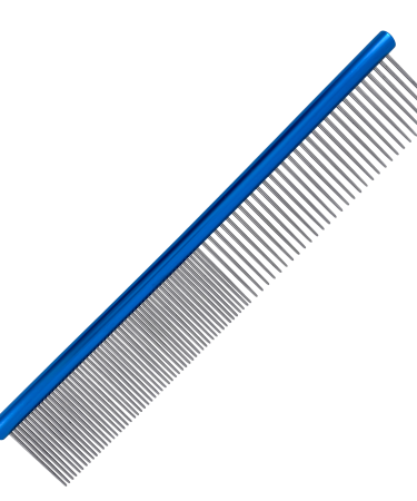 aluminum finishing comb blue